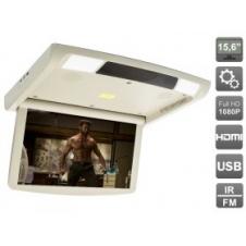 """Потолочный монитор 15.6"""" с моторизованным приводом, встроенным FULL HD медиаплеером и Miracast AVIS Electronics AVS1250T"""