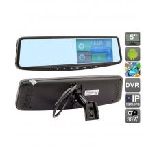 Зеркало заднего вида с навигатором и видеорегистратором на ОС Android AVIS Electronics AVS0588DVR с функцией телеметрии