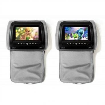 """Комплект подголовников со встроенным DVD плеером и LCD монитором 9"""" ERGO ER900HD"""