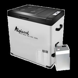 Компрессорный автохолодильник Alpicool C75 с дополнительной внешней батареей в комплекте