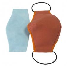 Повязка для лица многоразовая BULK из хлопка (оранжевая)