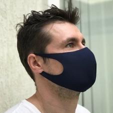 Повязка для лица (неопрен) многоразовая мужская (темно-синяя)