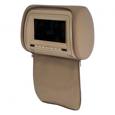"""Комплект подголовников со встроенным DVD плеером и LCD монитором 7"""" ERGO  ER700HD (бежевый)"""