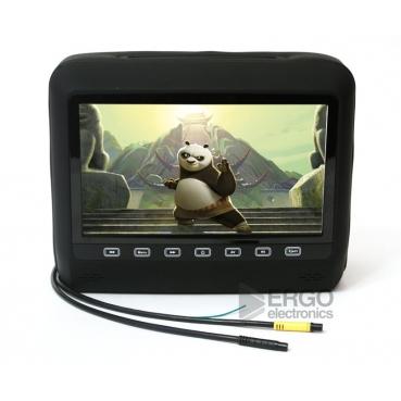 """Подголовник со встроенным DVD плеером и LCD монитором 9"""" ERGO ER9HD (чёрный)"""