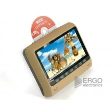"""Навесной монитор на подголовник с LCD 9"""" и DVD-проигрывателем ERGO (бежевый)"""