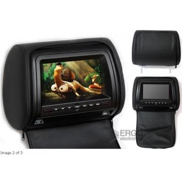 """Комплект подголовников со встроенным DVD плеером и LCD монитором 7"""" ERGO  ER700H (Чёрный)"""