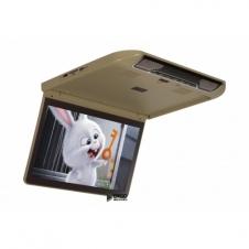 """Автомобильный потолочный монитор 13.3"""" со встроенным Full HD медиаплеером ERGO ER13S  Бежевый"""