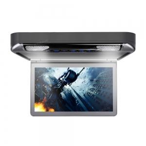 """Автомобильный потолочный монитор 13.3"""" со встроенным Full HD медиаплеером ERGO ER13S-DVD (темно-серый)"""