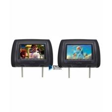 """Комплект подголовников со встроенным DVD плеером и LCD монитором 7"""" ERGO ER704HD (чёрный)"""