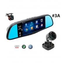 Многофункциональное зеркало RECXON RX-7 №3A  на базе ОС Android c 2-мя камерами