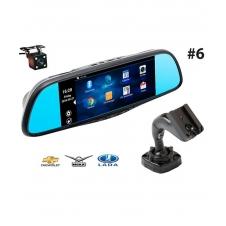 Многофункциональное зеркало RECXON RX-7 №6 на базе ОС Android c 2-мя камерами